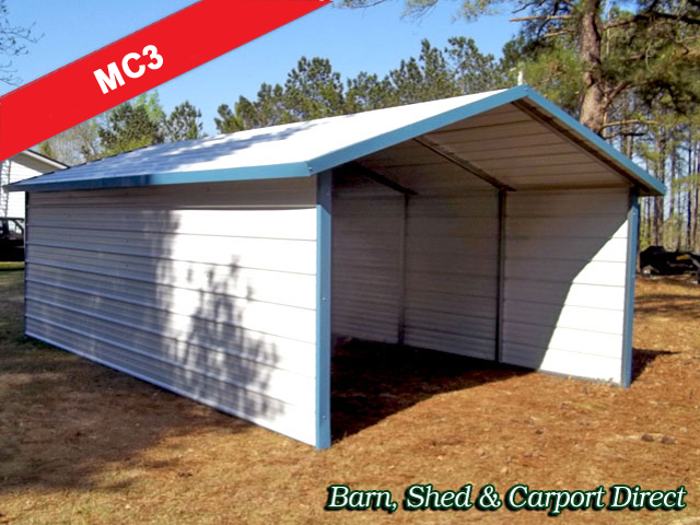 Drive-Thru A-Frame Carport (sides enclosed) : 12\' x 21\' x 6\'